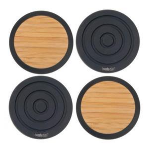 Komplet podkładek Tip - Top, czarne - CONTENTO - 655022 - 2832520218
