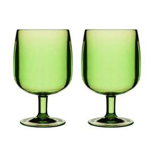 Kieliszki akrylowe, zielone - SAGAFORM - 5016262 - 2832520722