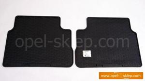 Dywaniki - wyk�adziny gumowe tylne Vectra C hatchback / sedan - komplet 2-cz�ciowy OPEL GM - 2823250052