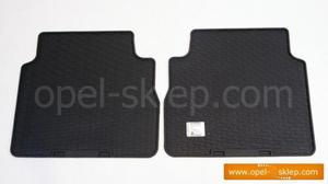Dywaniki - wyk�adziny gumowe tylne Vectra C kombi - komplet 2-cz�ciowy OPEL GM - 2823250054
