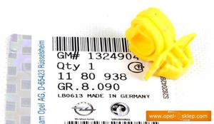 Zaczep - spinka pręta podpory maski Meriva B - OPEL - GM - 2823258693