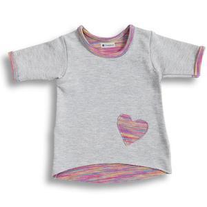 DressUp - PINK tunika dla niemowlaka z sercem 62 - 2858591366