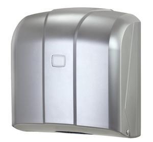 Pojemnik (podajnik) Faneco ZZ K4M na ręczniki papierowe w listkach, ścienny, plastikowy ABS,satynowy - 2850453514