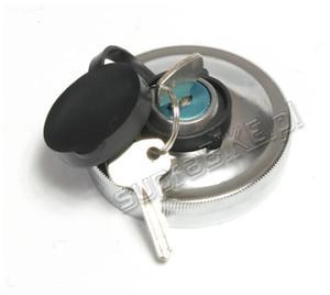 Korek zbiornika paliwa SIMSON metalowy chrom + kluczyki ORG - 2823039225