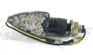 Kierunkowskaz mini stożek biały LED-15 carbon - 2836277437