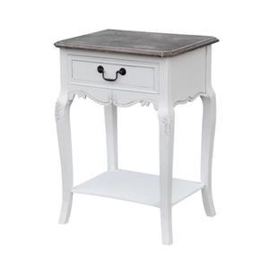 Szafka nocna biała w stylu francuskim RIMINI WHITE - 2863981745