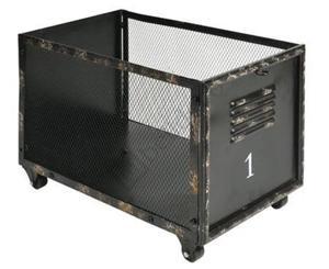 Kosz metalowy na kółkach Loft - 2873800897