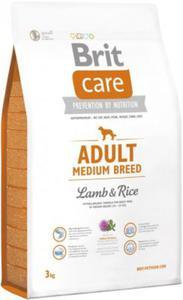 Brit Care Adult Medium Breed Lamb & Rice - jagnięcina z ryżem dla psów dorosłych średnich ras 3 kg - 2822930267