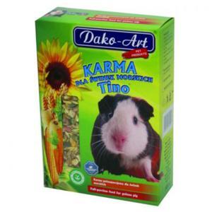 DAKO-ART Tino - pełnowartościowy pokarm dla świnek morskich 1kg - 2822923659
