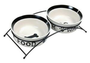 Trixie Miski ceramiczne na stojaku 2 x 1,6 L - 2822925486
