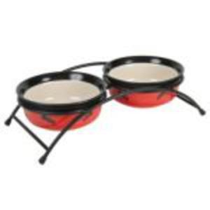 Trixie Miski ceramiczne na stojaku 2x0,25l - 2822925487