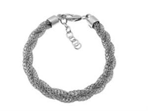 Srebrna bransoletka gruby sznur YES VERONA - 2833272950
