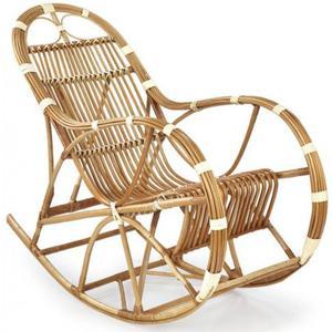 Wiklinowy fotel bujany Ulmer - 2853744357