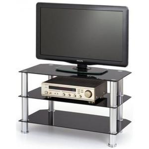 Szklany stolik pod telewizor Sento - czarny - 2853744365