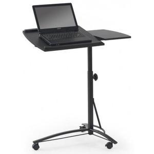 Regulowane biurko na kółkach Ertis - czarne - 2853744370