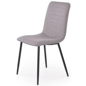 Krzesło tapicerowane Revis - popielate - 2875392084