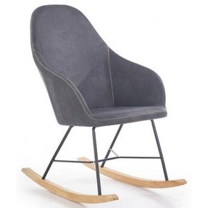 Fotel bujany Rafon - popielaty - 2860424538