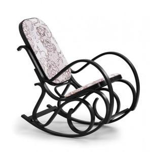 Drewniany fotel bujany w kolorze Wenge - Dixel - 2850944275