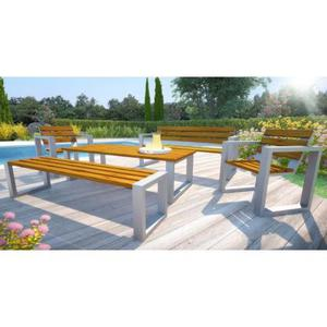 Komplet mebli ogrodowych 150cm Norin - 24 kolory - 2850944351