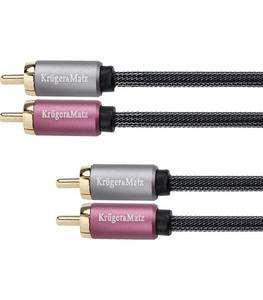 Kabel 2RCA-2RCA 0.5m Kruger&Matz - 2865355431