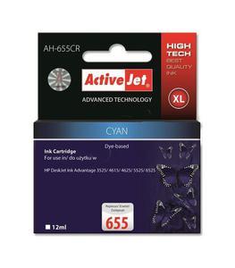 Tusz ActiveJet do HP 655 cyan - 2865355570