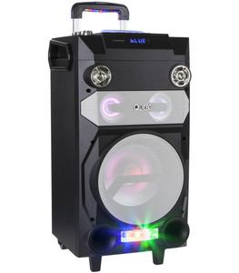 Przenośny aktywny zestaw DJ marki Quer z światełkami RGB, funkcją nagrywania oraz karaoke - 2865356562