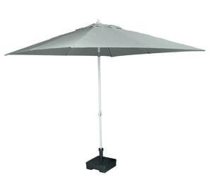 Parasol ogrodowy Corfu 250x250 szary- melanż - 2833853365