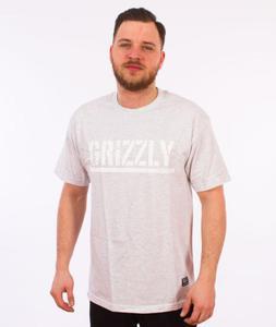Grizzly-OG Stamp Logo Basic T-Shirt Grey - 2847832325
