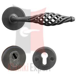 Klamko-klamka antywłamaniowa Budapest z zabezpieczeniem - 2825519013