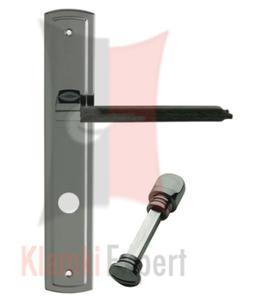 Klamka SLIM Skóra na szyldzie podłużnym z blokadą wc kolor do wyboru - 2825518416