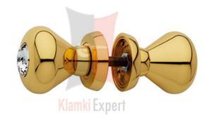 Gałka obrotowa ELIKA Crystal, szyld 108, kolor OZ pozłacany błyszczący - 2825518462