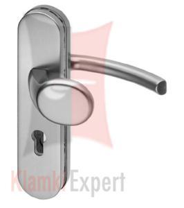 Klamko-gałka zewnętrzna LOGO, kolor F1 srebrny, rozstaw 72 mm - 2825518545