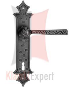 Klamka ODILO 501 czarna z otworem na klucz zwykły - 2825518734
