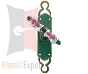 Klamka okienna VIENNA 1-40, porcelana kremowa kwiat brzoskwini - 2825518859