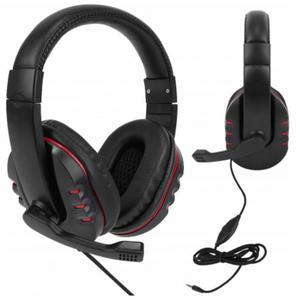 Lekkie słuchawki komputerowe z mikrofonem do Skype grania i rozmów długi przewód 2 metry - 2850927558