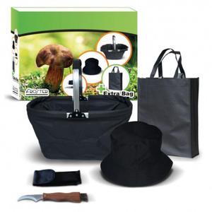 Zestaw grzybiarza niezbędnik nóż koszyk czapka torba papierowa akcesoria do zbierania grzybów - 2850927679