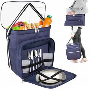 Organizer samochodowy na siedzenie z torbą termiczną i miejscem na chusteczki - 2856679140