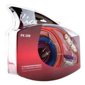 Zestaw kabli audio przewodów Kicx do instalacji wzmacniacza dwukanałowego - 2857331708