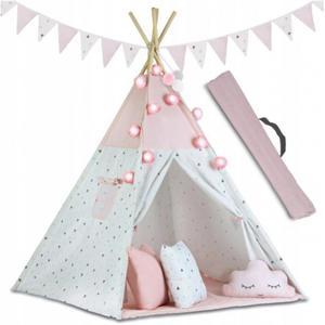 Namiot dla dzieci Tipi wigwam okno trzy poduszki mi - 2860918366