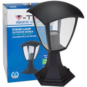 Stojąca lampa ogrodowa pojedyncza VT-754 czarna - 2854946315