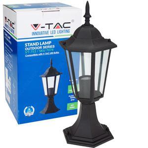 Stojąca lampa ogrodowa pojedyncza VT-753 czarna - 2855505547