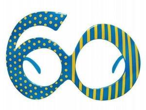 """Okulary na 60 urodziny """"60"""" - 2890517161"""