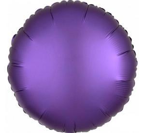 """Balon foliowy 17"""" na urodziny, Koło fioletowe, satynowe - 2890521581"""