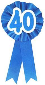 """Kotylion na 40 urodziny """"40"""" niebieski - 2890521893"""