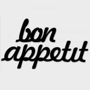 Napis na ścianę BON APPETIT biały - 2822983931