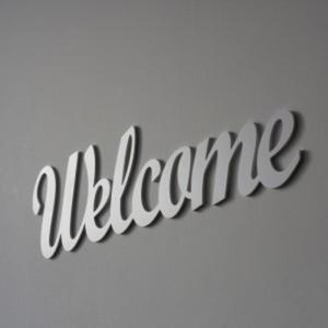 Napis na ścianę WELCOME biały - 2822983935