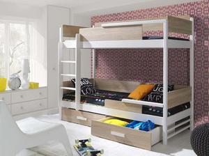 Łóżko piętrowe TRES 2 osobowe - sosna lakier - 2823047549