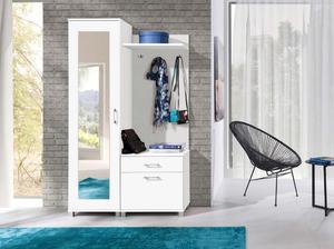 Garderoba do przedpokoju biała z lustrem - biała - 2836465111