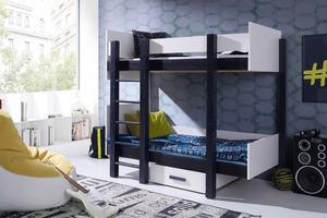Łóżko piętrowe NESTOR - sosna lakier - 2846997923