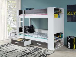Łóżko piętrowe GASPAR 2 osobowe z barierką - akryl kolor - 2855883860
